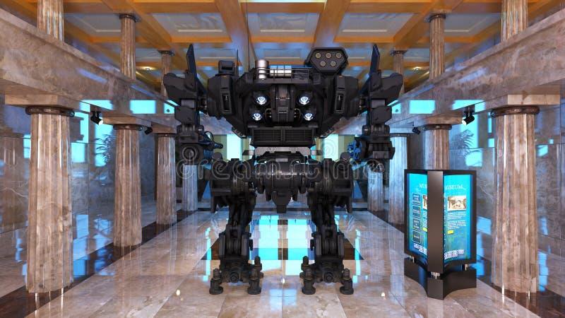 Batalistyczny robot ilustracji