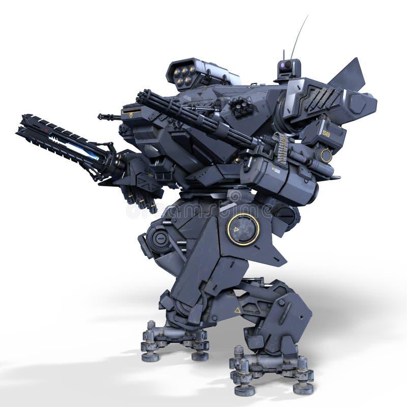 Batalistyczny robot ilustracja wektor