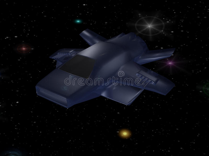 batalistyczny statek kosmiczny royalty ilustracja