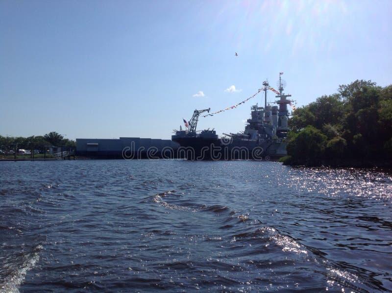Batalistyczny statek w popołudniu fotografia royalty free