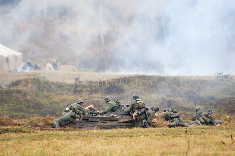 Batalla alemana de los soldados imagen de archivo libre de regalías