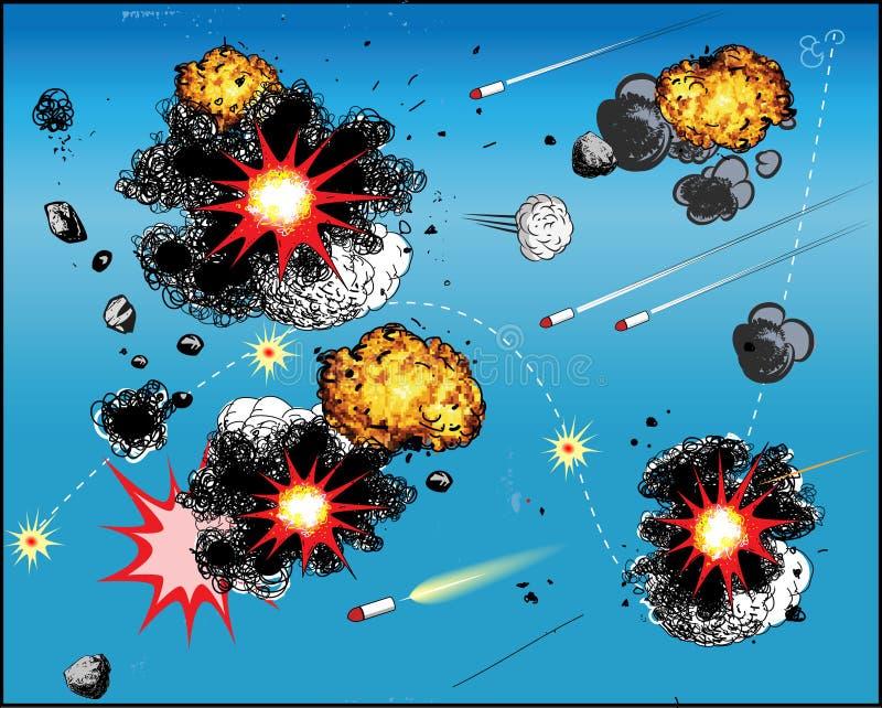 Batalla del cómic stock de ilustración