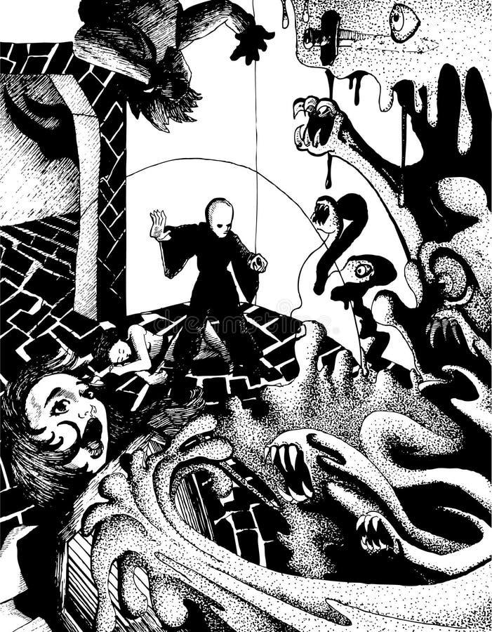 Batalla Del Dungeon Imagen de archivo
