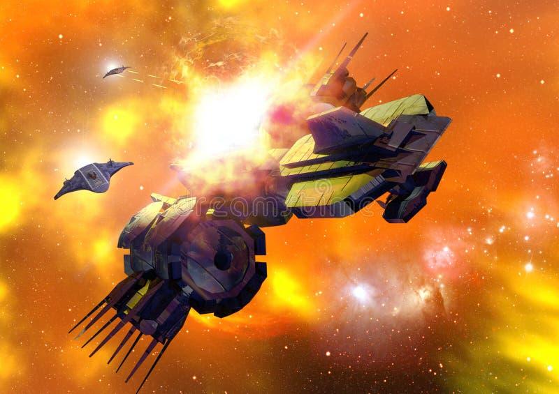 Batalla del espacio libre illustration