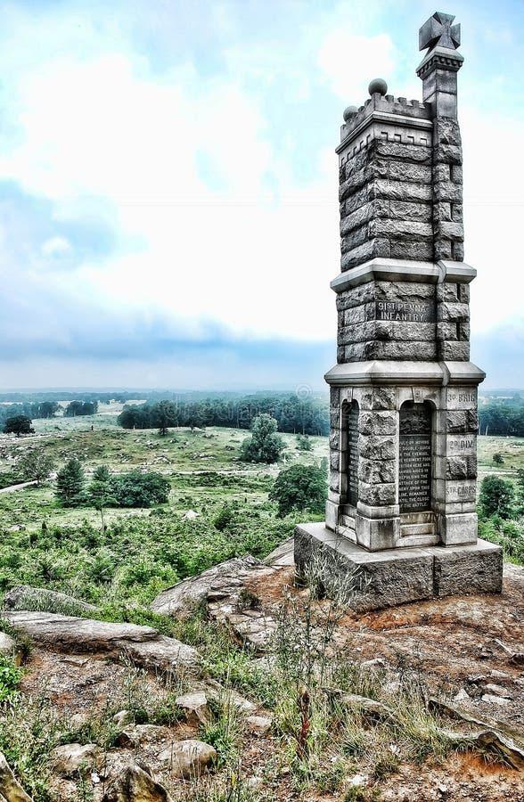 Batalla del monumento de Gettysburg fotos de archivo