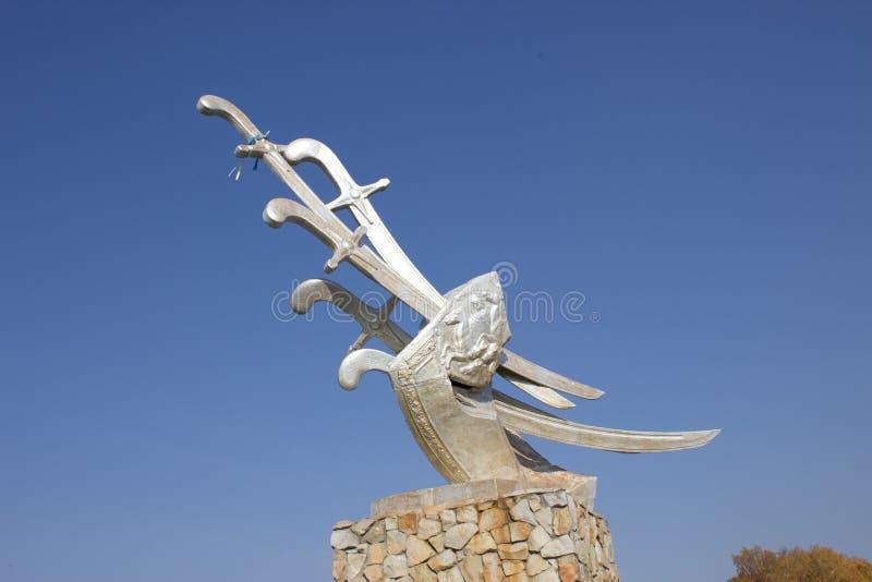 Batalla del monumento de Konotop imagenes de archivo