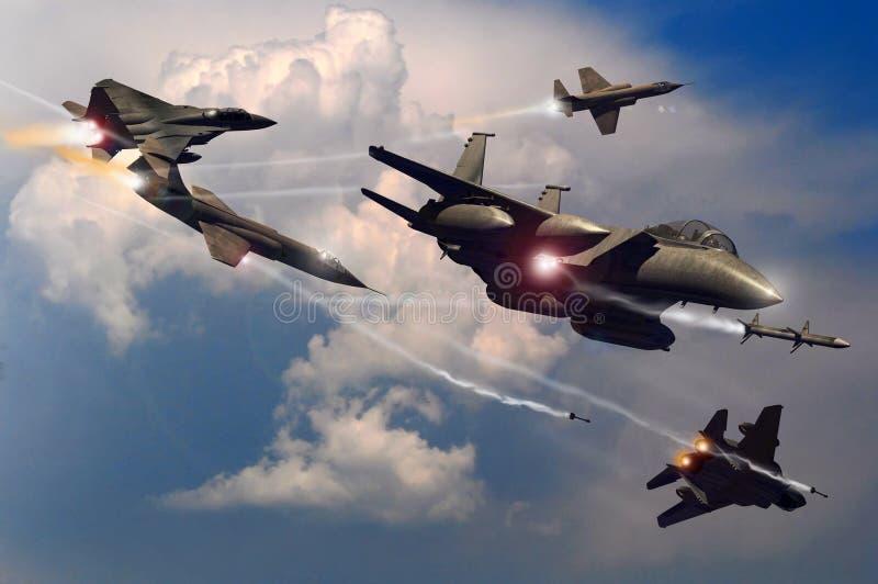 Batalla en el cielo stock de ilustración