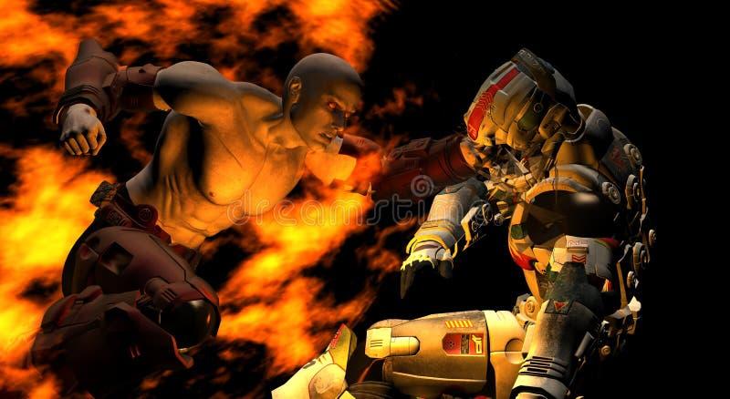 Batalla futura de alta resolución del soldado ilustración del vector