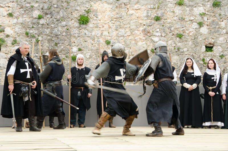 Batalla medieval imagen de archivo