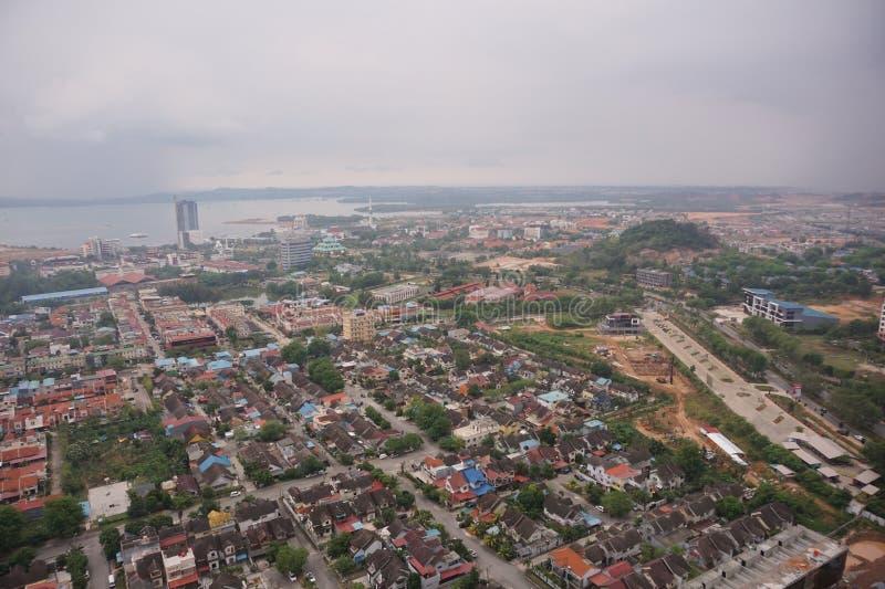 Batam-Stadt von den Skylinen stockbild