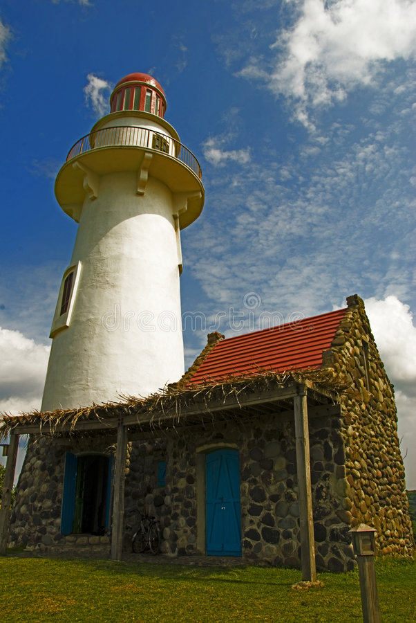 Download Batanes Lighthouse stock photo. Image of blue, grass, batanes - 6493846