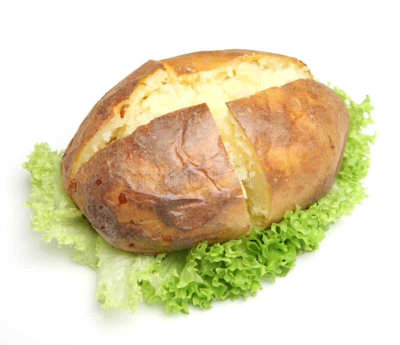 Batata com manteiga lisa foto de stock