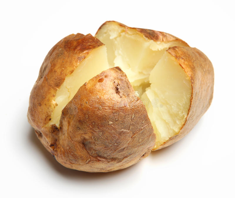 Batata com manteiga lisa fotografia de stock royalty free