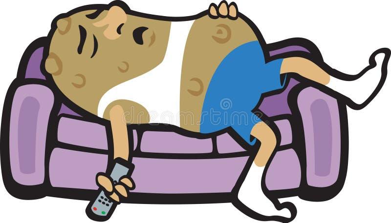 Batata de sofá ilustração do vetor