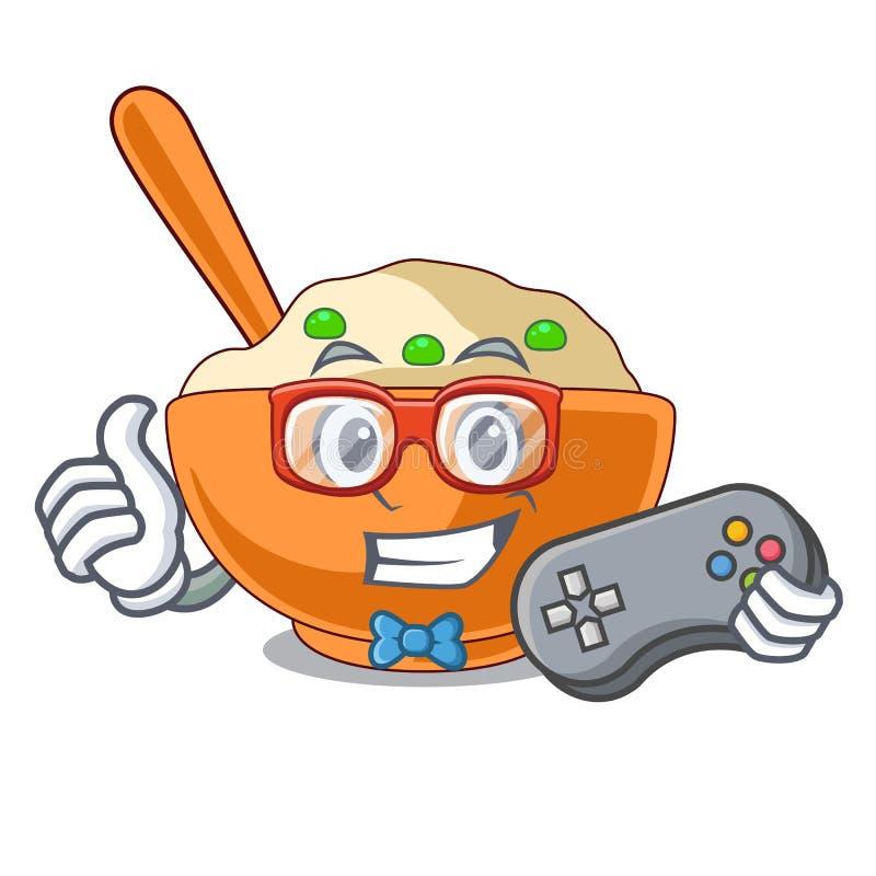 Batata triturada do Gamer na mascote da forma ilustração royalty free
