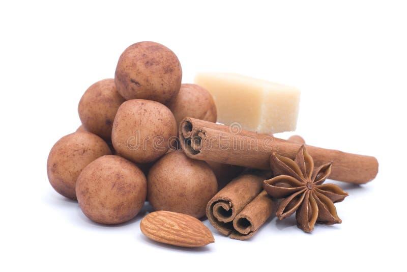 Batatas da pasta da amêndoa fotografia de stock royalty free
