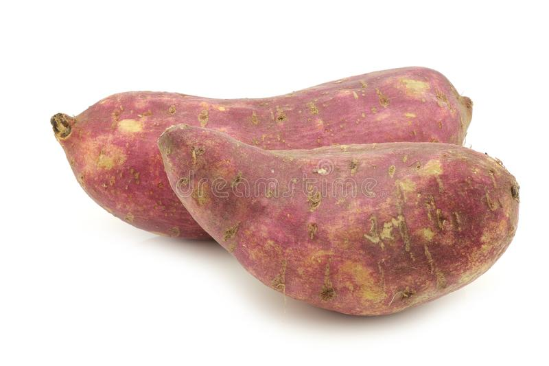 Batatas doces recentemente colhidas fotografia de stock