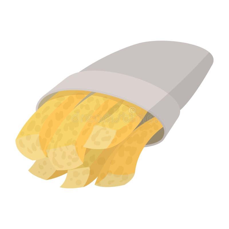 Batatas fritas dos desenhos animados ilustração royalty free