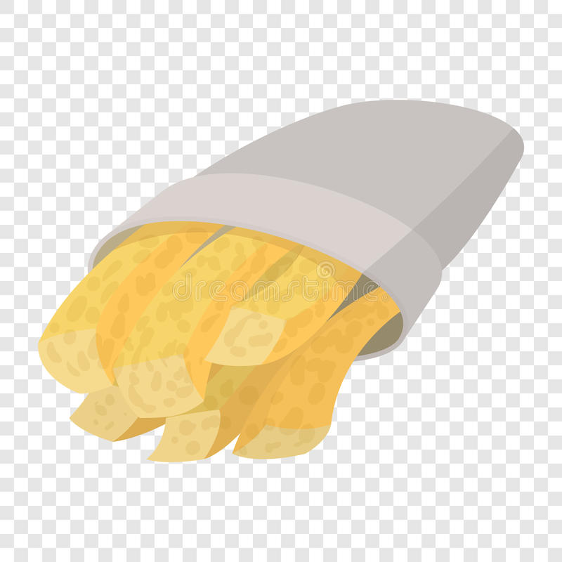Batatas fritas dos desenhos animados ilustração stock