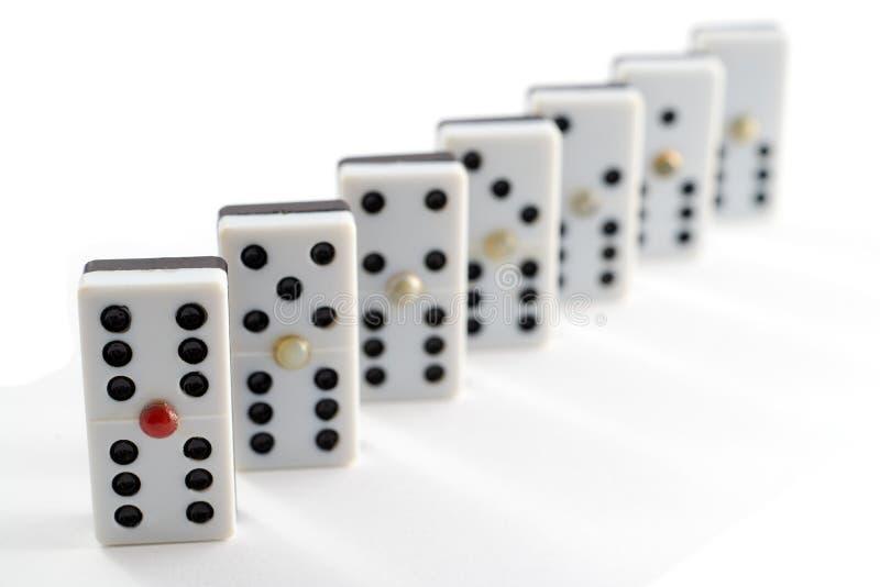 Batatas fritas em palito do dominó imagem de stock