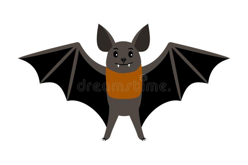batavia Летание хеллоуина иллюстрации вектора летучей мыши вампира страшное изолировало значок иллюстрация вектора