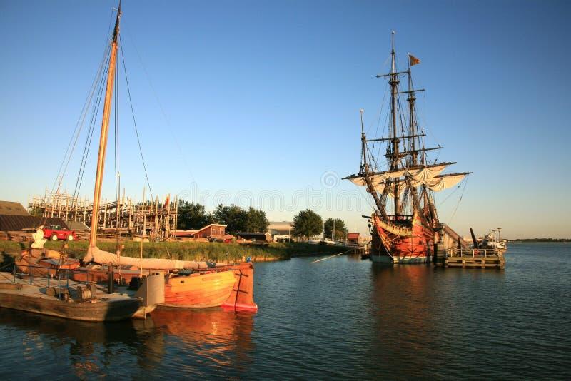 batavia nederländsk gammal ship fotografering för bildbyråer