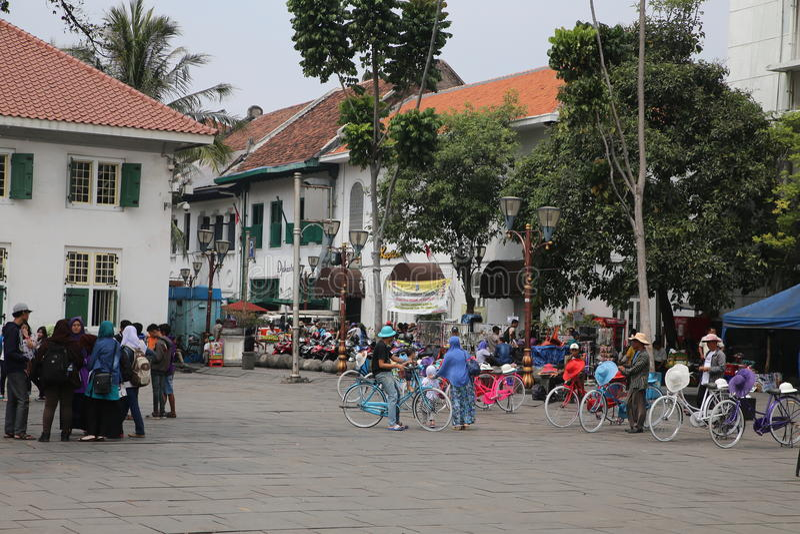 Batavia stad i Jakarta arkivbilder