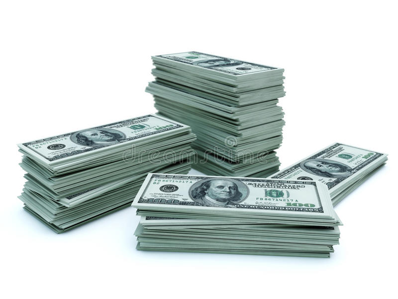 Batch Of Dollars Royalty Free Stock Photography
