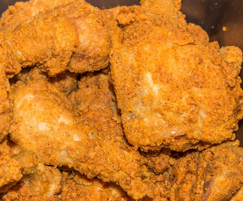 Golden Brown Fried Chicken royalty free stock image