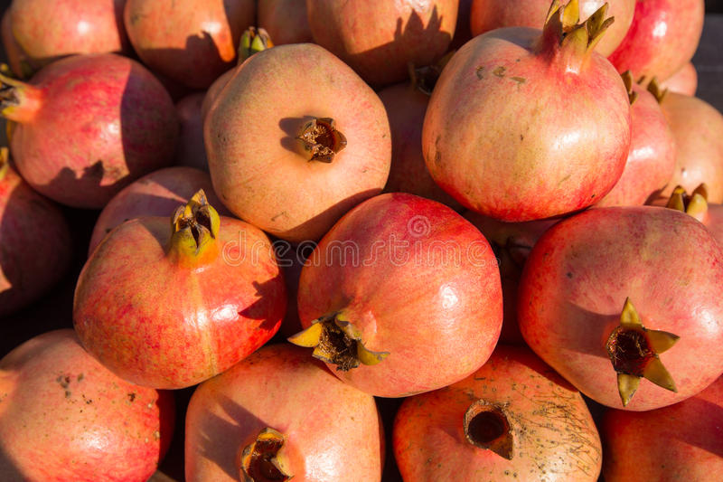 Download Batch Of Whole Ripe Pomegranates Stock Photo - Image: 28388230