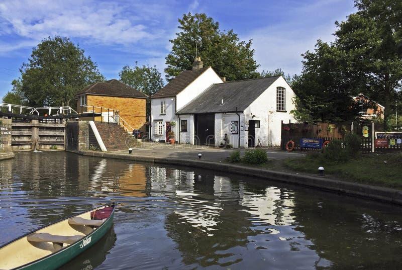 Batchworth lås på Rickmansworth Hertfordshire arkivfoto
