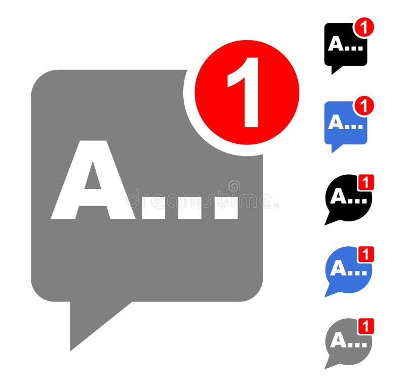 bate-papo com mensagens ilustração stock