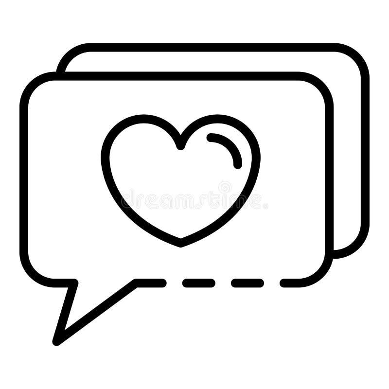Bate-papo como o ícone do blogue, estilo do esboço ilustração stock