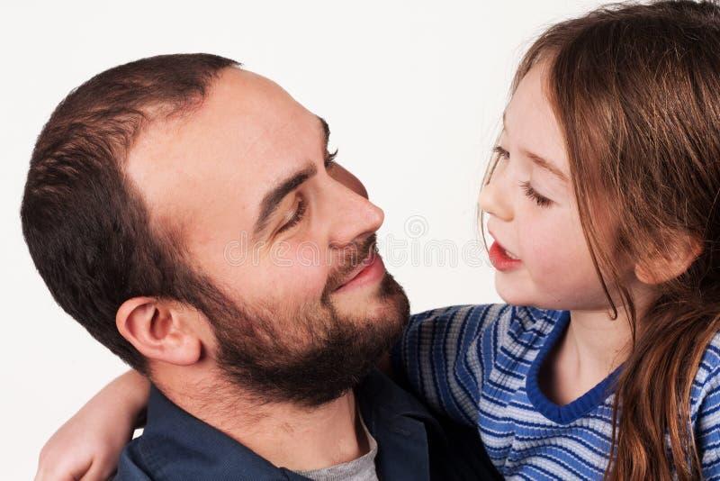 Bate-papo da filha do pai fotos de stock