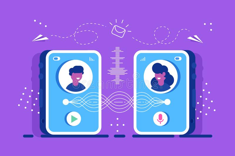 bate-papo discuta Videochat Educa??o ilustração royalty free