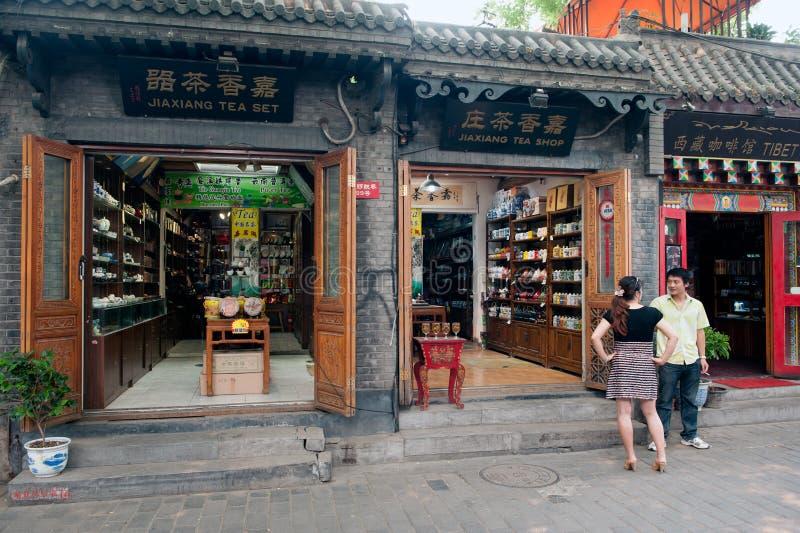 Bate-papo do chinês no Hutongs de Biejing foto de stock royalty free