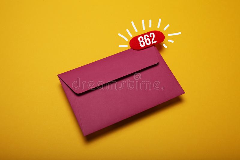 Bate-papo do neg?cio de Sms, e-mail novo Notifica??o do endere?o imagem de stock royalty free