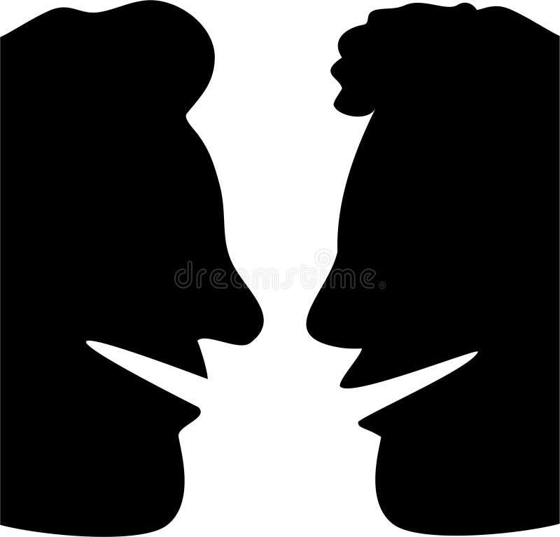 Bate-papo do perfil ilustração do vetor