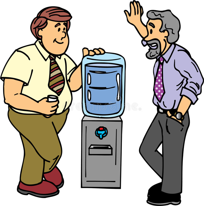 Bate-papo do refrigerador de água ilustração stock