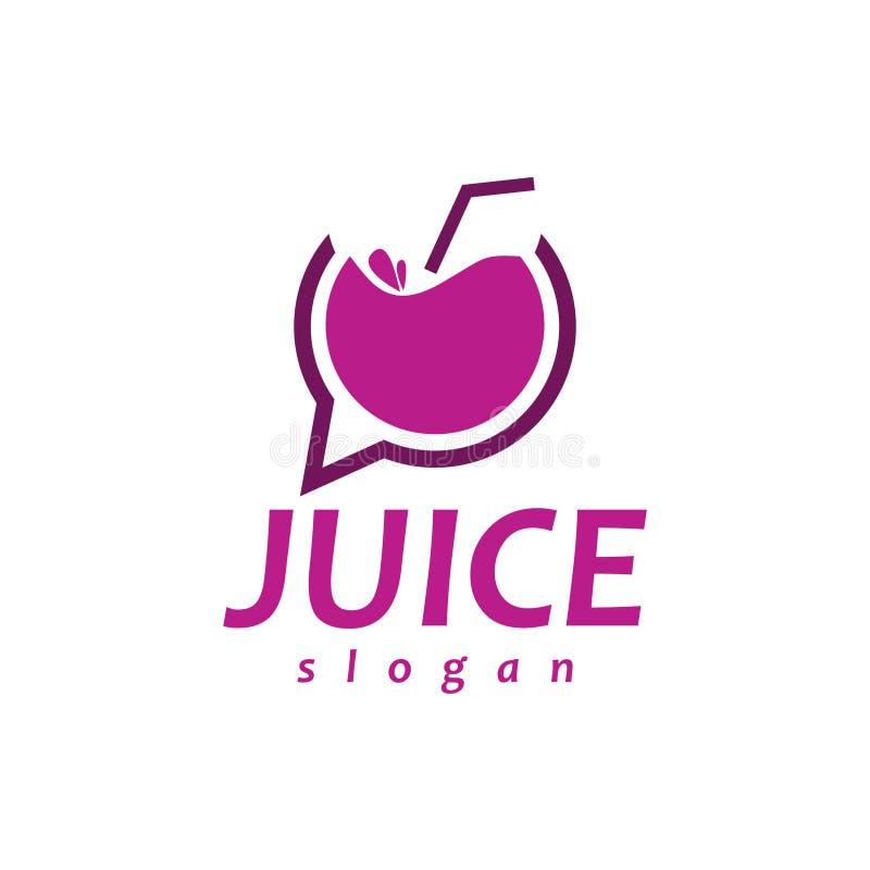 Bate-papo Juice Logo ilustração stock