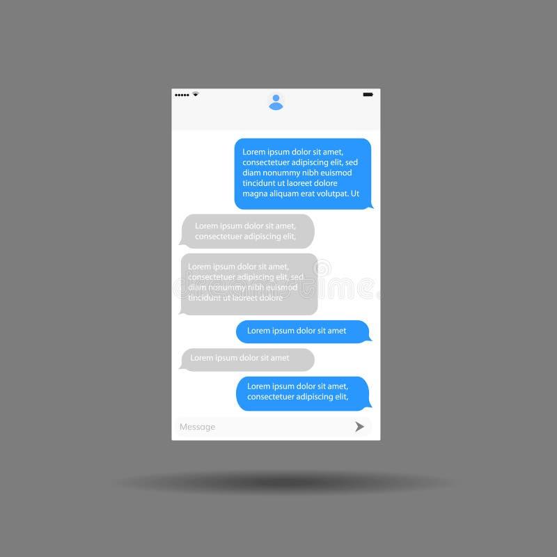 Bate-papo móvel da aplicação da relação da mensagem ilustração do vetor
