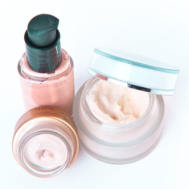 Bate y maquillaje fotografía de archivo
