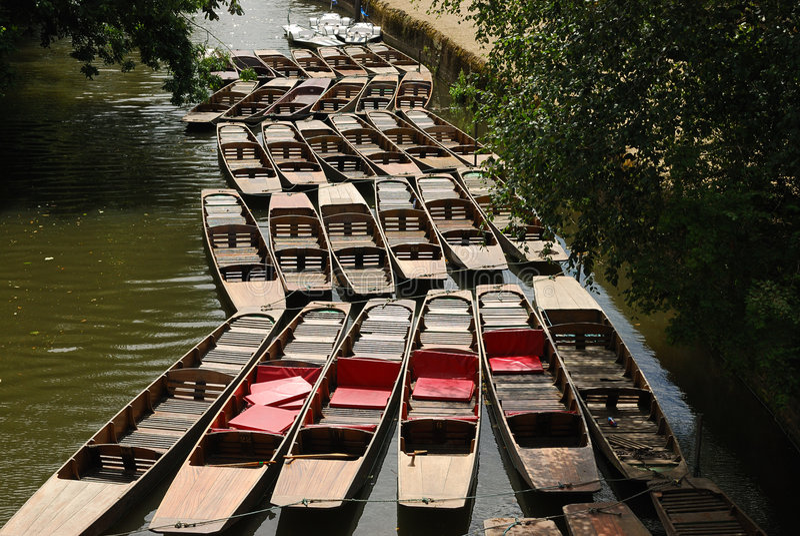 Bateas en el canal de Oxford imágenes de archivo libres de regalías
