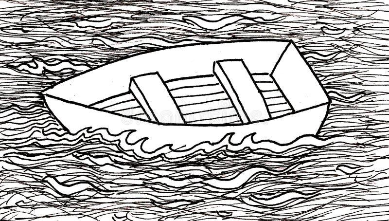 bateau à flot illustration libre de droits