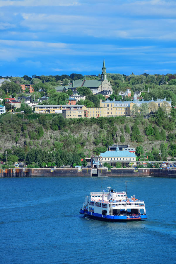 Bateau à Québec image libre de droits