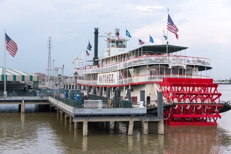 Bateau à vapeur accouplé Natchez sur le fleuve Mississippi photos stock