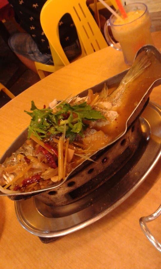 Bateau à vapeur de poissons photo libre de droits