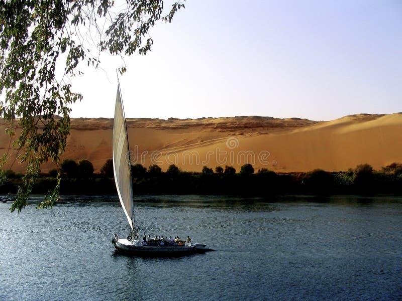 Bateau à voile égyptien photo libre de droits