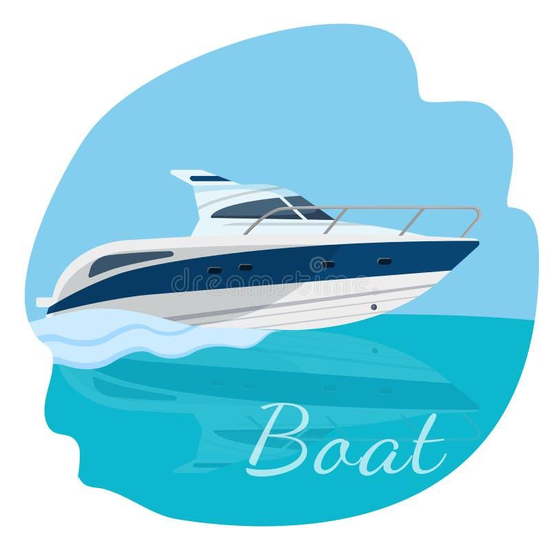 Bateau à voile de catamaran avec l'illustration de vecteur de toile d'isolement illustration stock