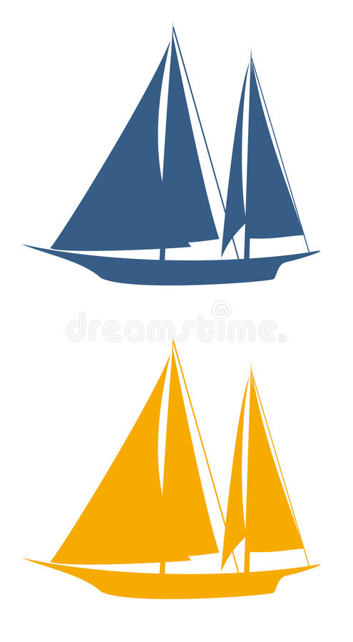 bateau à voiles illustration de vecteur